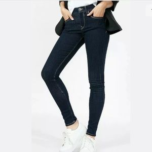 Express Mid Rise Legging Stretch Jeans Dark Wash 6